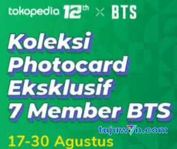 Pengguna bisa mendapat photocard BTS mulai tanggal 17-30 Agustus 2021