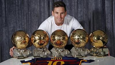 Messi 5 lần đoạt QBV