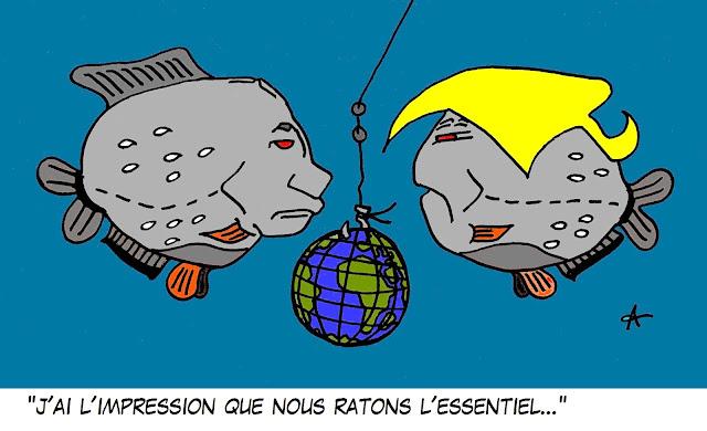 trump poutine dessin caricature