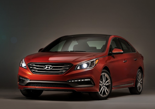 2015 Hyundai Sonata orange
