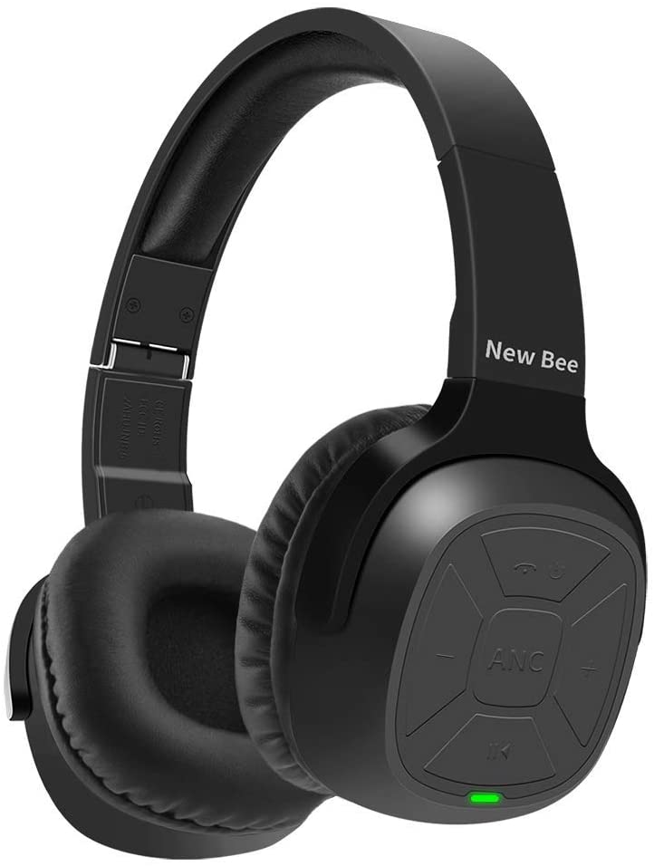 50% off  Active Noise Cancelling Wireless Headphones New Bee 70H Playtime ANC Wireless Headphones