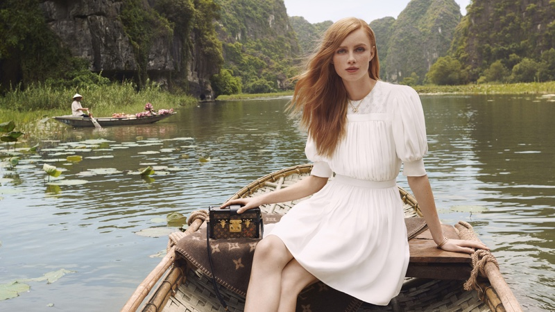 Model Rianne van Rompaey stars in Louis Vuitton Spirit of Travel 2019 campaign