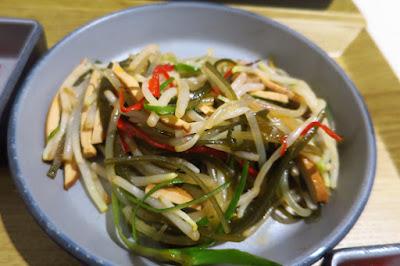 Milkfish, oriental salad
