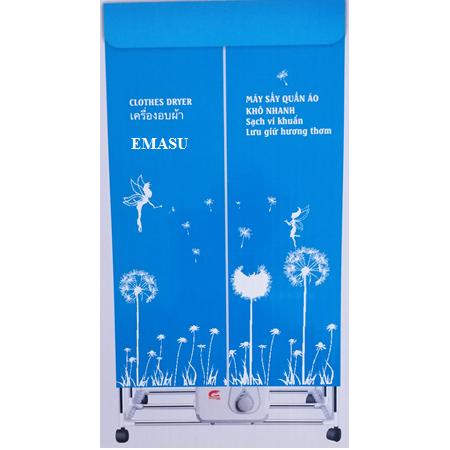 Máy sấy quần áo Emasu Nhật Bản JEG-1106 tiết kiệm điện với thiết kế chắc khỏe, to hơn 30%, khung to gấp đôi so với các dòng máy sấy khác