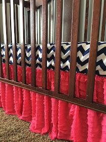 Hot Pink Ruffle Crib Skirt