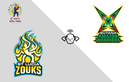 CPL T20: Guyana Amazon Warriors vs St Lucia Zouks Live Streaming 5th Sep 2019