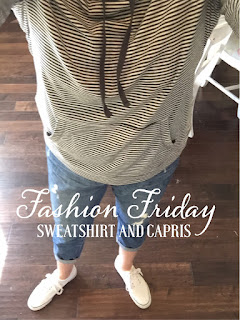Fashion Friday Sweatshirt and Jean capris, Old Navy