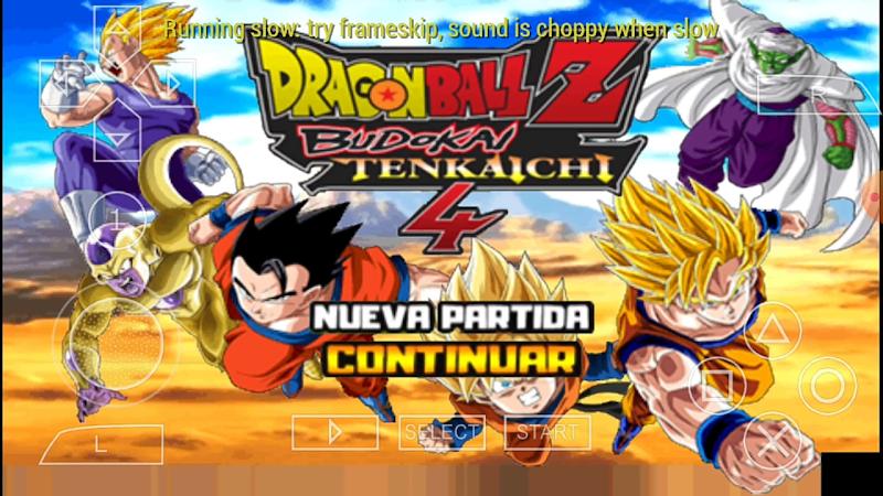 PSP Super Dragon Ball Heroes ISO BT3 DBZ TTT MOD With Permanent Menu