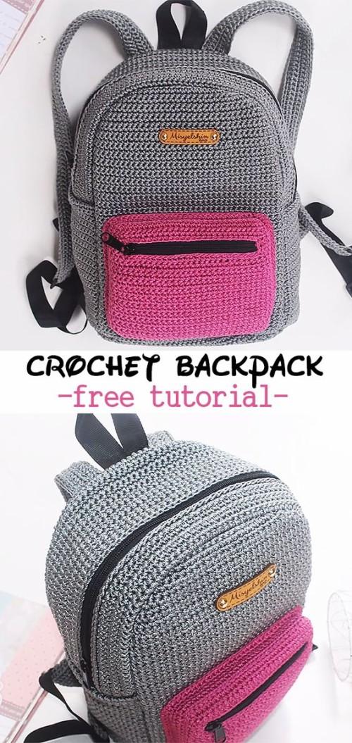 Crochet Backpack - Free Tutorial