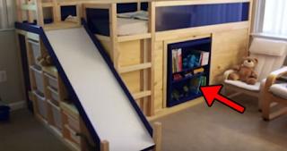 Ο πατέρας έχτισε ένα κρεβάτι για τον γιο του, αλλά όταν τράβα ένα βιβλίο... Γίνεται καταπληκτικό!