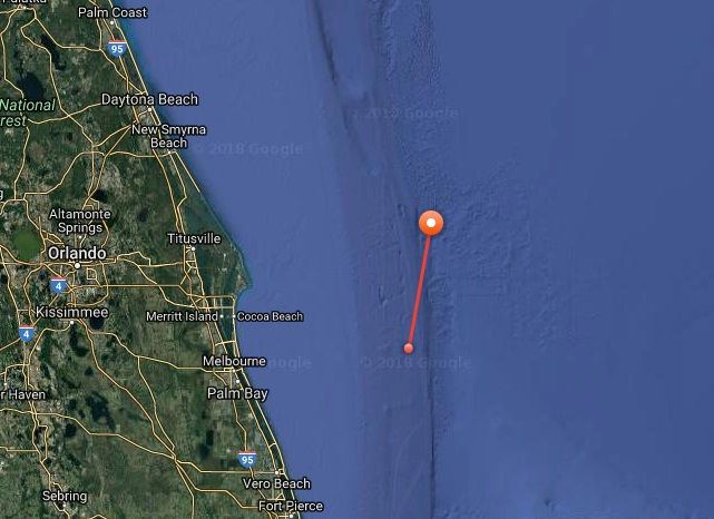 Great White Shark Tracking Map Florida
