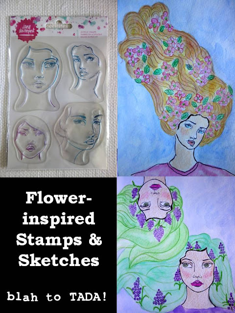 Flower-inspired stamps and sketches