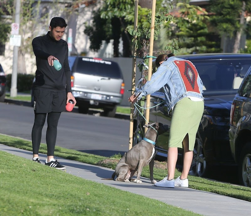 Liv Lo Clicked Outside with Her Dog in West Hollywood 3 Apr -2020