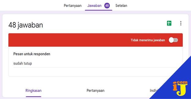 Cara Menutup Akses Soal Google form