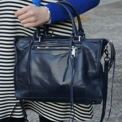 Rebecca Minkoff Regan Satchel Tote in moon | away from the blue