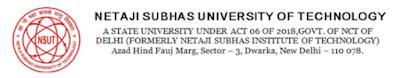 Free Job Alert: Neta Ji Subhash University NSUT Various Post Vacancy 2021- Notification For Total 126 Post