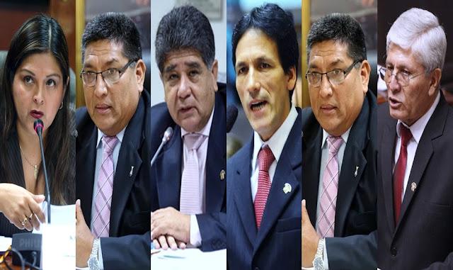 Segundo Tapia, Karina Beteta, Freddy Sarmiento, César Segura, Mario Mantilla y Jorge Castro