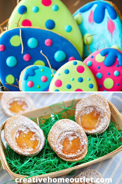 Decorate and shape your cookies and turn them into Easter desserts