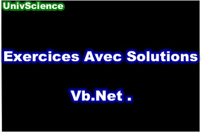 Exercices Avec Solutions Vb.Net PDF.