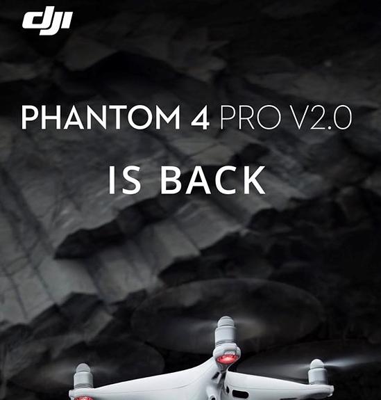 تقوم شركة DJI بإعادة تجهيز الطائرة بدون طيار Phantom 4 Pro V2.0 ، بعد مرور عام تقريبًا على وقفها