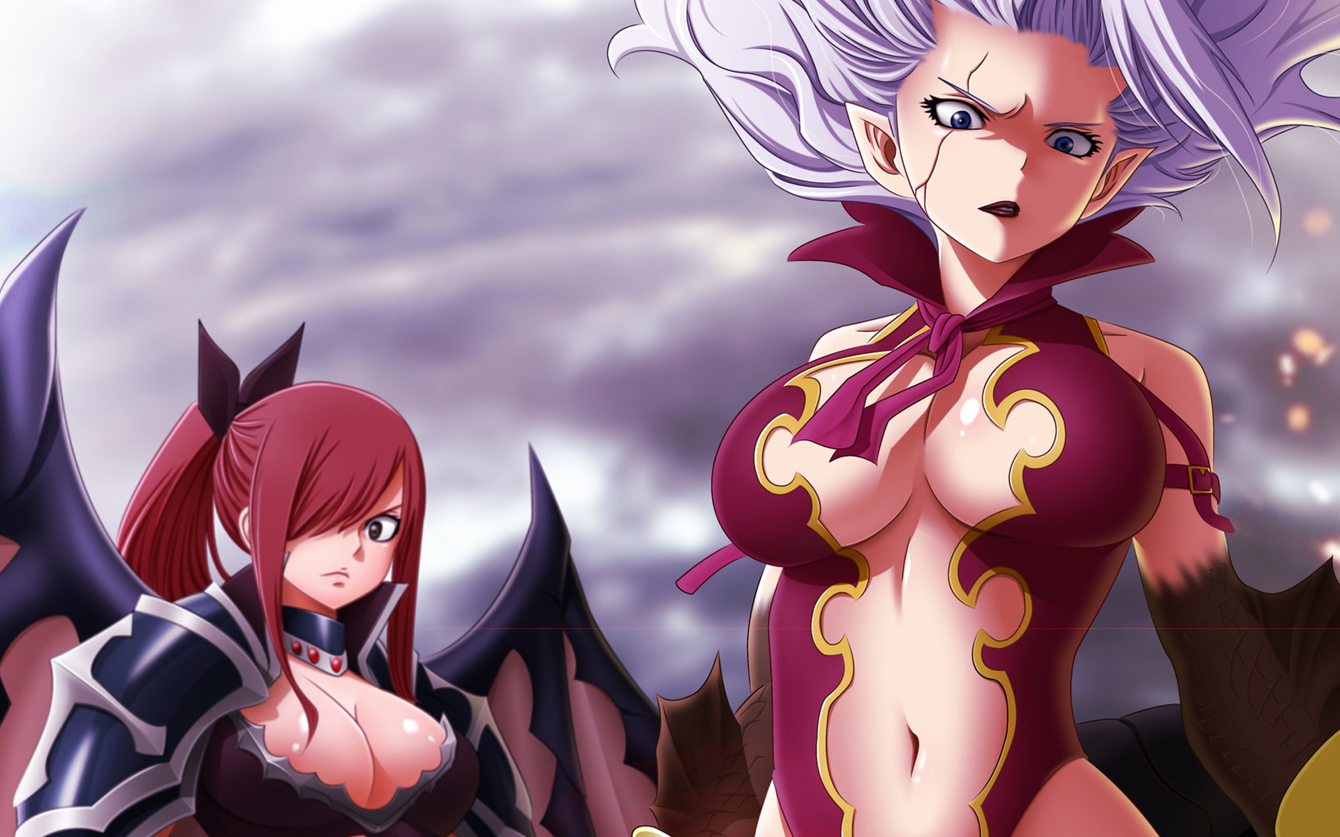Erza And Mirajane 08 Hd Wallpaper Only the best hd background pictures. erza and mirajane 08 hd wallpaper