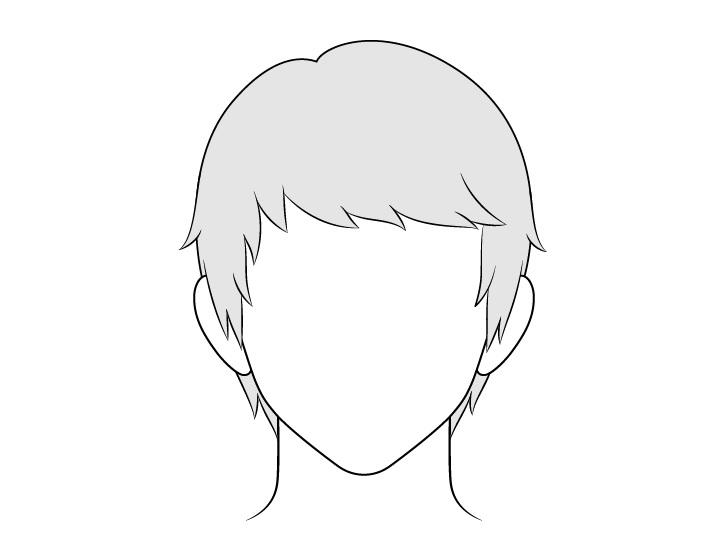 Gambar rambut pria disisir anime