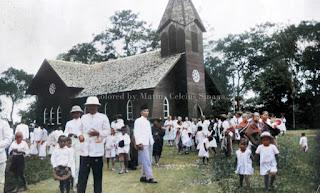 selesai beribadah gereja di kabanjahe