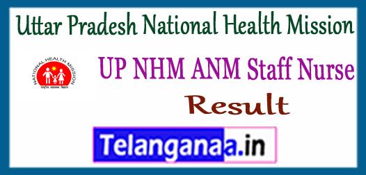 Uttar Pradesh National Health Mission ANM Staff Nurse Result 2017