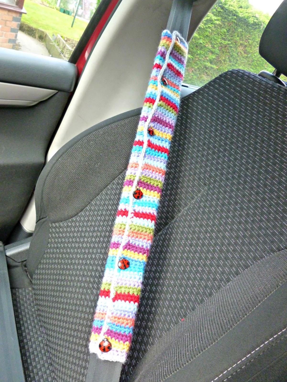 winwick mum crochet car seat belt cover. Black Bedroom Furniture Sets. Home Design Ideas