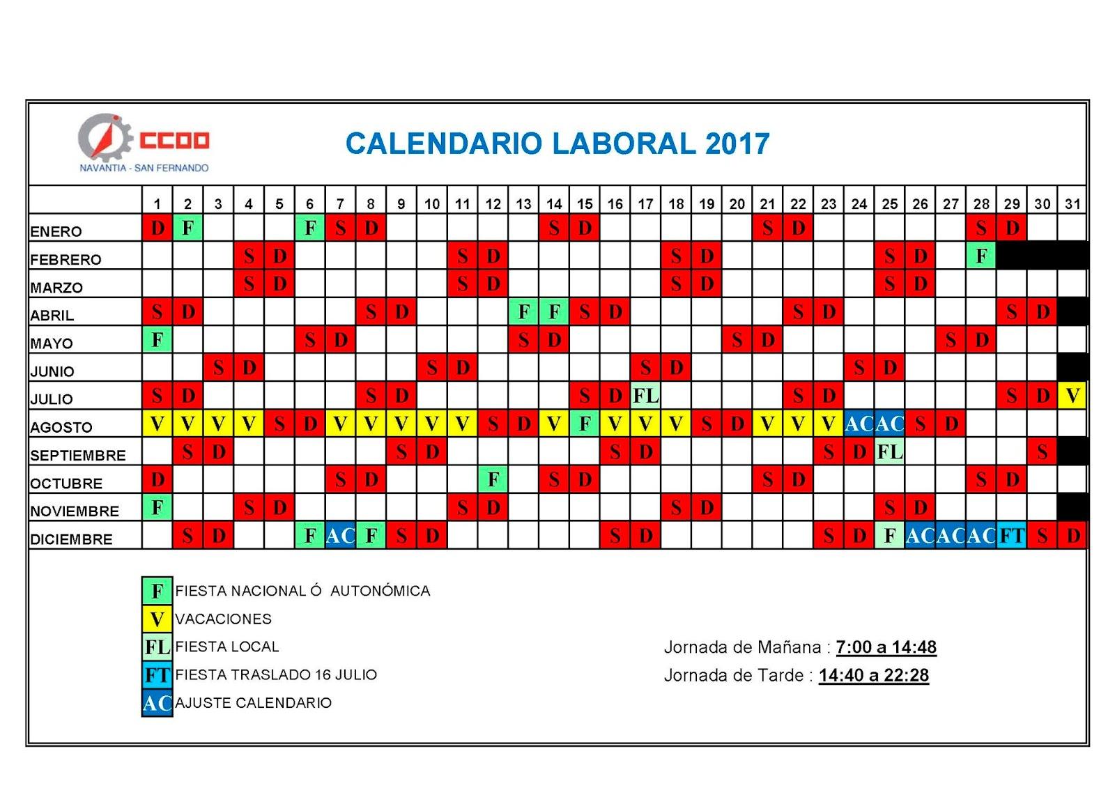 Calendario 2018 Rcm