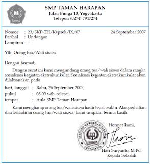 Contoh Surat Dinas Yang Baik Dan Benar Oleh Badrul Muhammad Halaman
