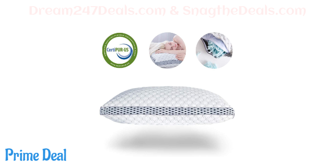35%OFF Memory Foam Pillow for Sleeping Shredded Bed Bamboo Cooling Pillow