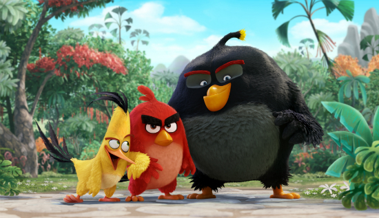 "Chuck, Red and Bomb in ""The Angry Birds Movie"""