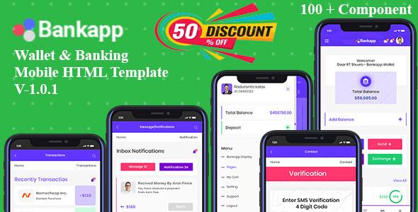 Bankapp HTML Mobile Template