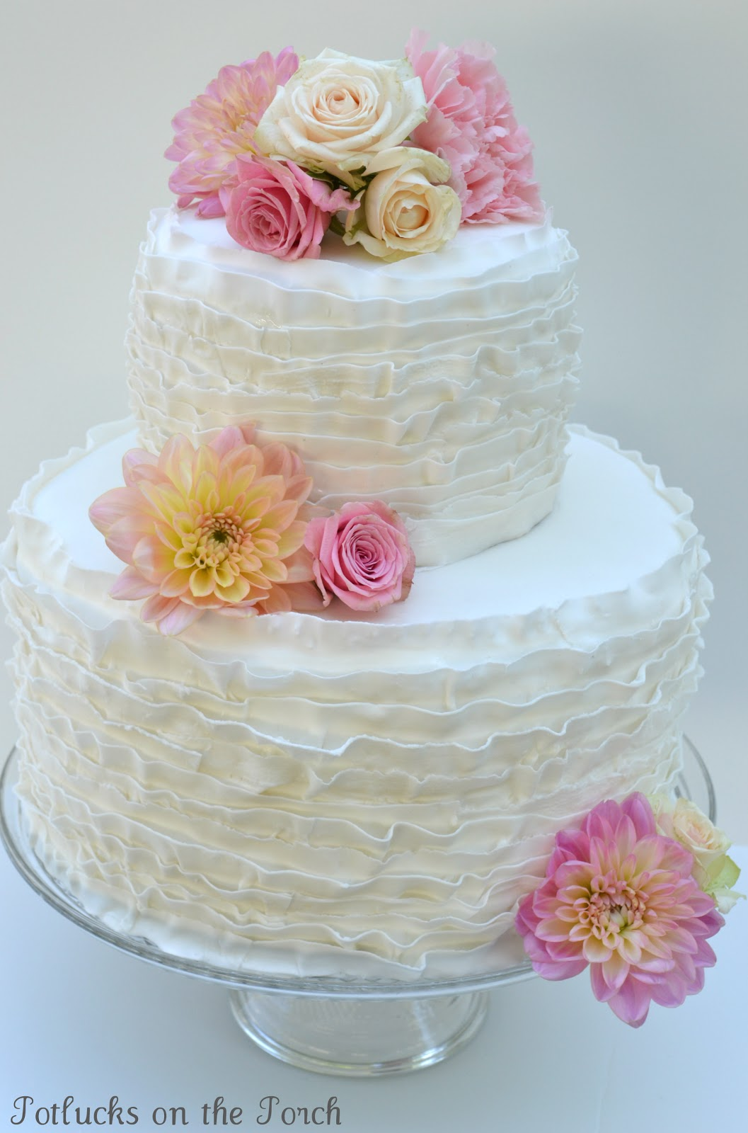 does walmart make wedding cakes potlucks on the porch how to make a fondant ruffle cake 13684