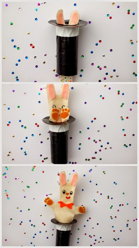 DIY Pop Up Rabbit Puppet