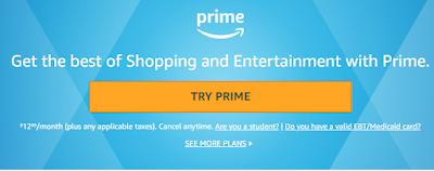 Langkah untuk membuat akun Amazon Prime