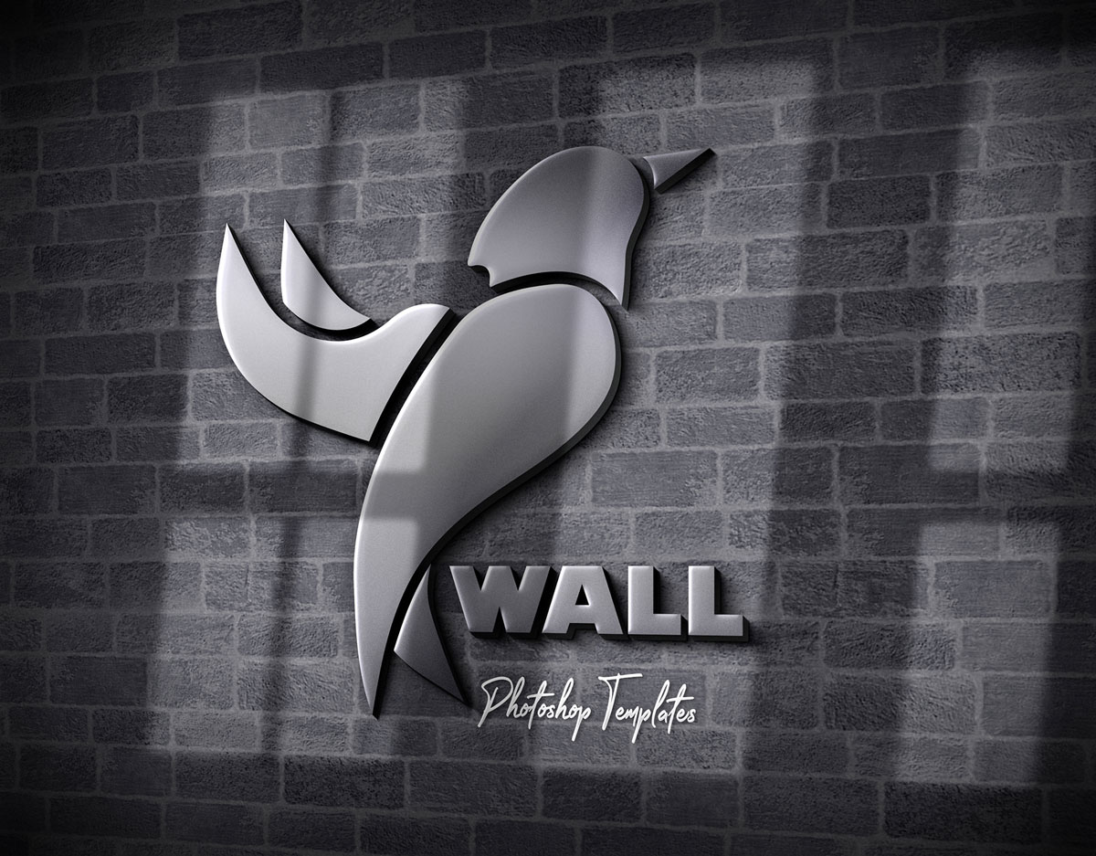 Wall Logo Sign Mockups 26496979  u