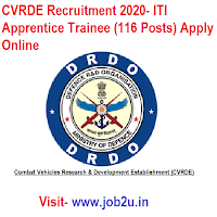 CVRDE Recruitment 2020, ITI Apprentice Trainee