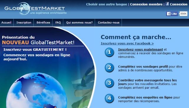 Global Test Market, le meilleur niveau de rémunération