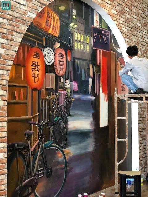 Tranh tường đẹp dành cho quán cafe, trà sữa