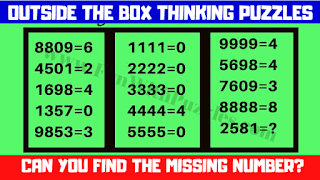 Outside the box thinking puzzle questions to twist your brain