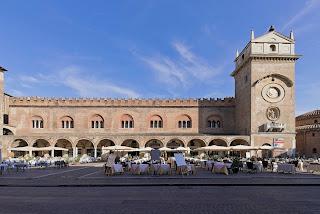 The Palazzo della Ragione in Piazza delle Erbe in Mantua