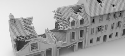 STRETCH GOAL £7500 LOCKED NORMANDY STREET RUIN SET picture 1