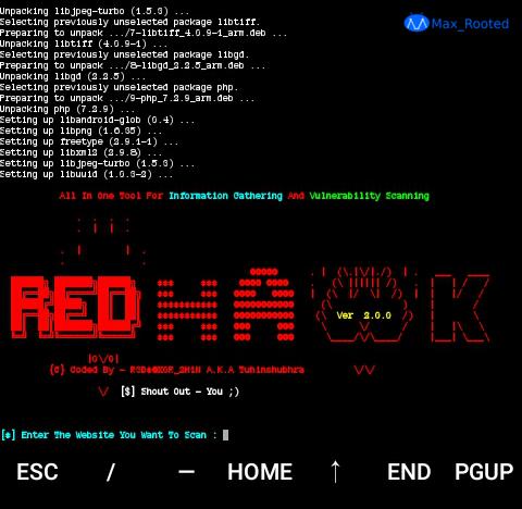 Cara Install RED HAWK di Termux Android