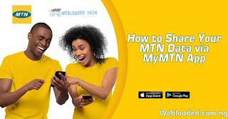 How to Share Your MTN Data via MyMTN App