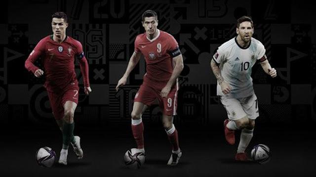 Cristiano Ronaldo, Messi y Lewandowski, finalistas al premio The Best 2020