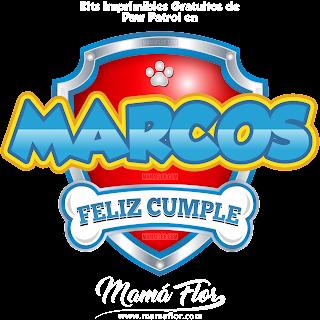 Logo de Paw Patrol: MARCOS