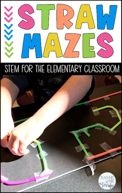 STEM Challenges- Build mazes! This blog post gives tips about creating three different kinds of mazes. Links to the resources are included! Easy materials and easy prep challenges are the best!