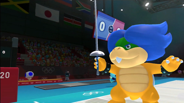 Ludwig Von Koopa fencing épée pose Mario & Sonic at the Olympic Games Tokyo 2020